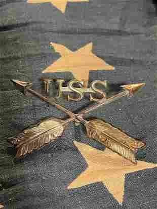 INDIAN WARS USS BADGE
