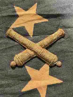 CIVIL WAR CROSSED CANNONS ARTILLERY INSIGNIA BADGE