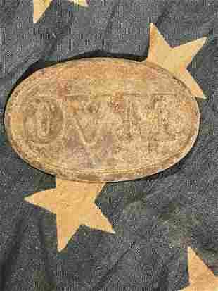 RARE CIVIL WAR OVM OHION VOLS. MILITIA BELT BUCKLE