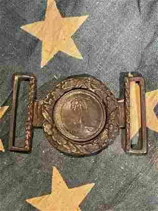 CIVIL WAR PALMETTO S.C. TANG CONFEDERATE BELT BUCKLE
