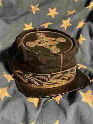 RARE CIVIL WAR ERA HIGH RANK OFFICER KEPI HAT CAP
