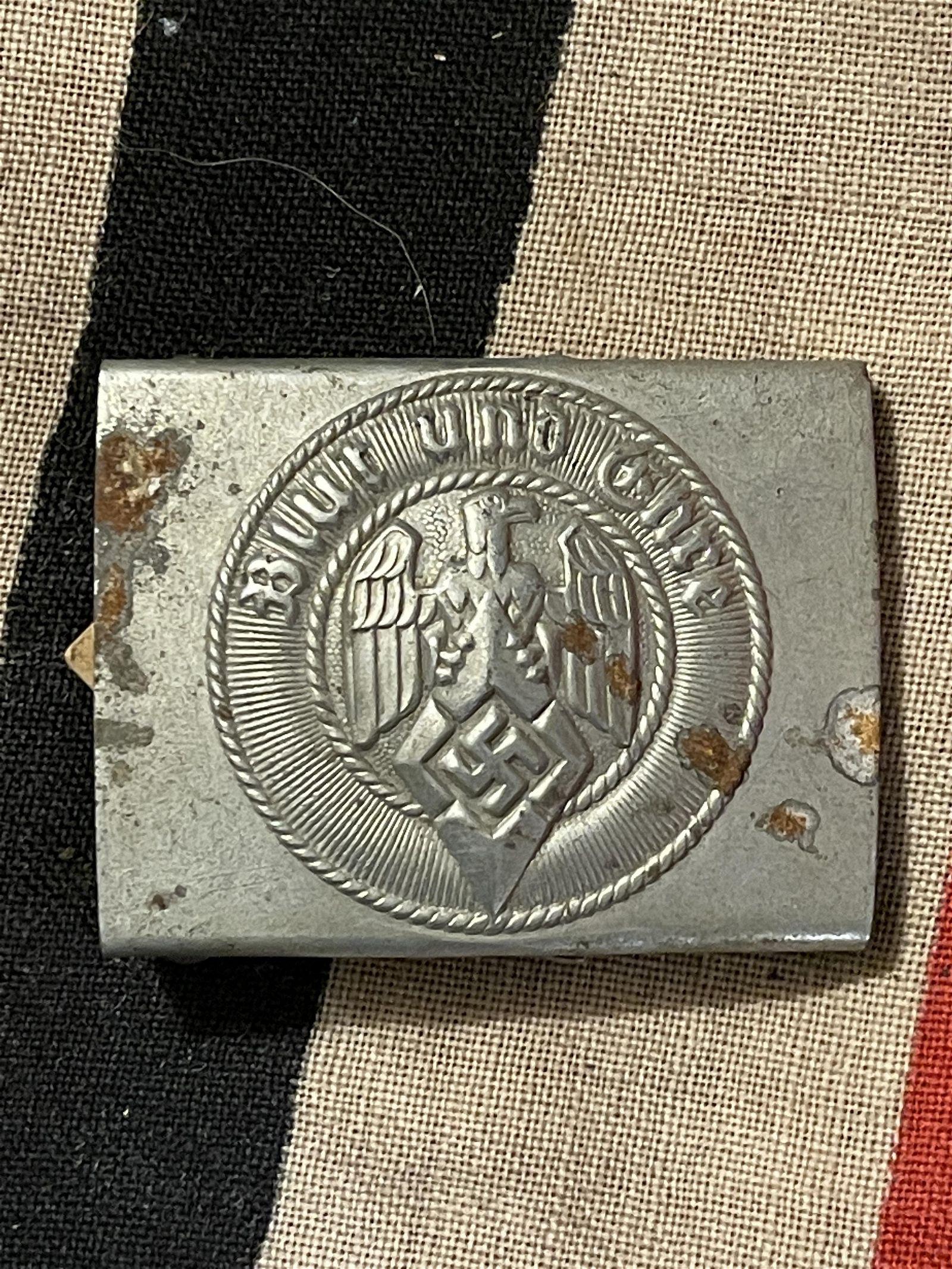 WW2 GERMAN HITLER YOUTH BELT BUCKLE W/ORIG. TAG