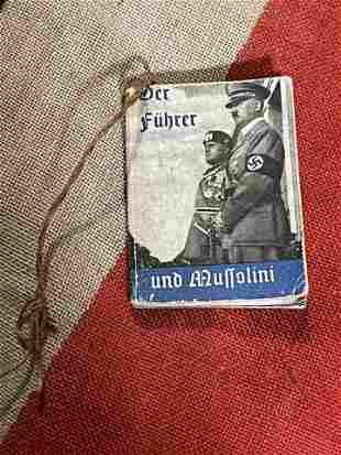 WW2 GERMAN NAZI DER FUHRER MINIATURE BOOK