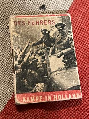 WW2 GERMAN DES FUHRERES KAMPF IN HOLLAND MINIATURE BOOK