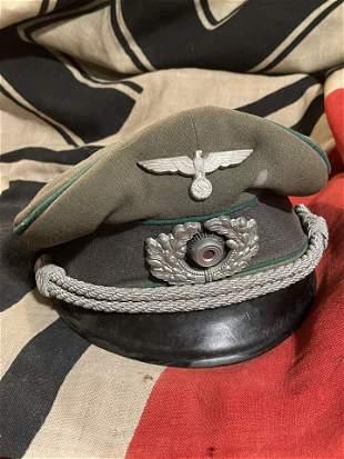 RARE WW2 GERMAN HEER ARMY NCO OFFICER VISOR CAP