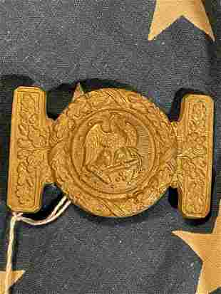 RARE CIVIL WAR CONFEDERATE NAVY BELT BUCKLE