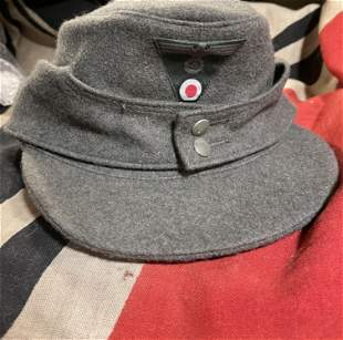 RARE WW2 GERMAN HEER ENLISTED M43 CAP W/MAKER MARKS
