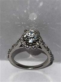 1.25 CT ROUND VS1,G SOLITAIRE DIAMOND PLATINUM RING