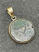ANTIQUE 14K GOLD ANCIENT COIN PENDANT