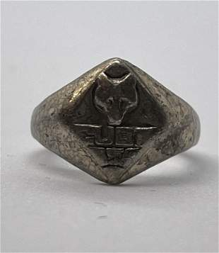 ANTIQUE STERLING SILVER CUBS USA RING