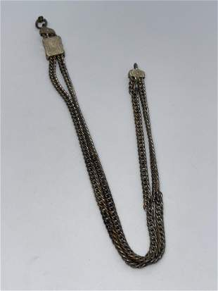 VICTORIAN GOLD FILLED POCKET WATCH CHAIN