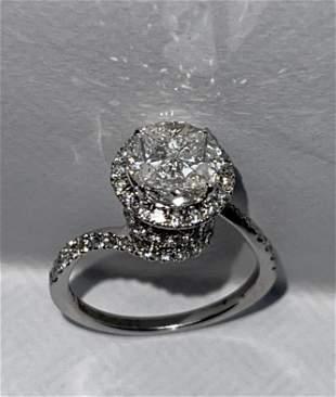 DESIGNER ERAVOS 18K 1.65 TCW VS-SI, H DIAMONDS RING