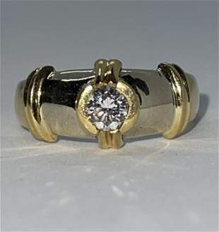 MENS 18K GOLD 0.50 CT VS1,G DIAMOND RING SZ 9.5