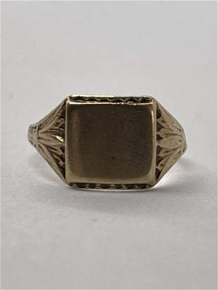 VICTORIAN 10K GOLD COCKTAIL RING SZ 5.5