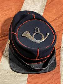 SCARCE CIVIL WAR UNION OFFICER INFANTRY KEPI HAT CAP