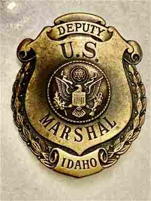 VINTAGE DEPUTY MARSHAL IDAHO BADGE