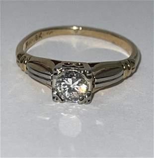 14K-18K GOLD 0.40 CT VS1, G DIAMOND ART DECO RING