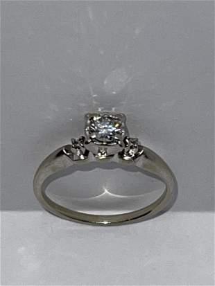 BROGAN 14K GOLD 0.50 CT VS1, G DIAMOND ART DECO RING