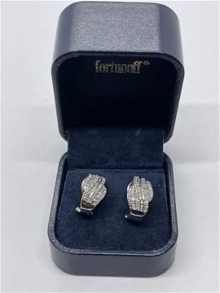 ELEGANT 10K GOLD 1.25 TCW SI, H DIAMONDS EARRINGS