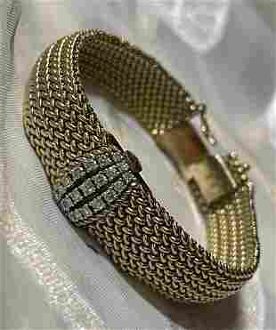 RARE VAN CLEEF 14K GOLD VS DIAMONDS LADIES WATCH