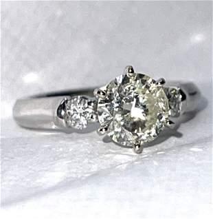 14K GOLD 1.25 CT ROUND I, J SOLITAIRE WEDDING RING SZ 6