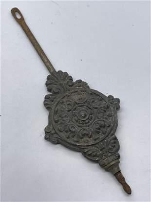 ANTIQUE 1800'S CAST IRON PENDULUM