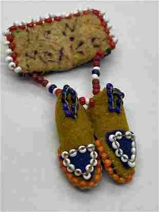 NEW MEXICO HAND-MADE BEADED BROOCH
