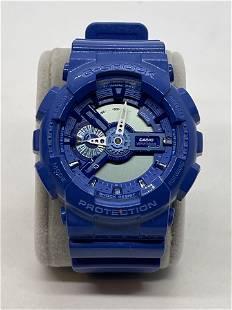 CASIO G-SHOCK GA-1100BC BLUE WRISTWATCH