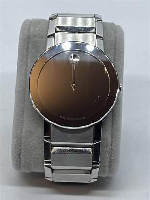 MOVADO MENS SAPPHIRE COLLECTION WRISTWATCH