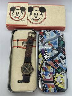 DISNEY WORKS MICKEY MOUSE WATCH IN ORIG. BOX