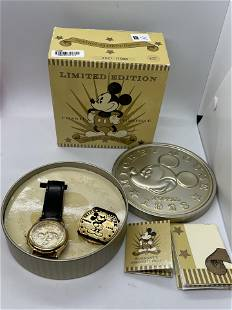 LIMITED ED. MICKEY MOUSE FOSSIL WATCH IN ORIG. BOX