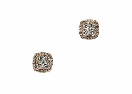 ELEGANT 18K GOLD AND 1.0 TCW DIAMONDS EARSTUDS