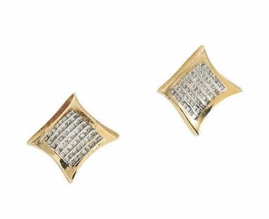 14K GOLD 2.50 TCW VS-SI, G-H DIAMONDS STUDS EARRINGS