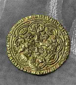 RARE ANCIENT 23K GOLD SHIPWRECK COIN - MIDDLE EAST