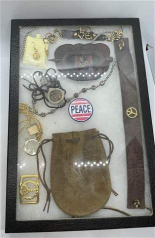 VINTAGE COLLECTION LOT OF HIPPIE JEWELRY