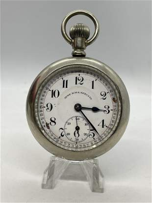 TIME BALL SPECIAL MENS RAILROAD 21J POCKETWATCH
