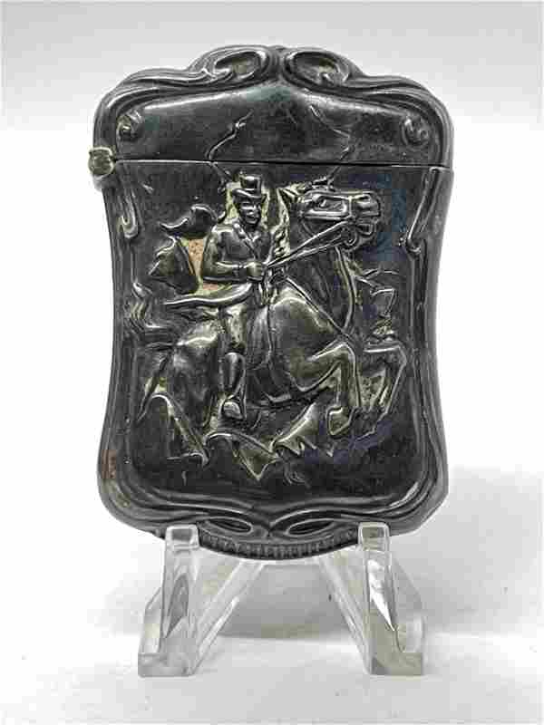 CIVIL WAR STERLING SILVER CONFEDERATE SOLDIER ON HORSE