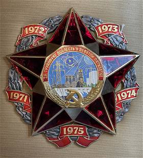 SOVIET RUSSIAN WALL PLAQUE ENERGY FOR 5 YR SERVICE