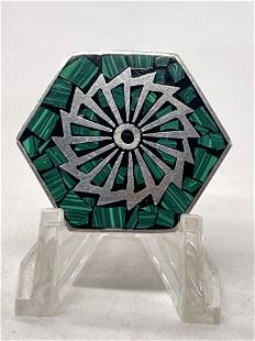 STERLING SILVER MEXICAN BROOCH PENDANT