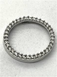 ESTATE 10K GOLD 1/2 TCW SI,G DIAMONDS CIRCLE PENDANT