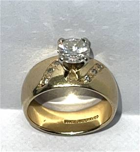 ARTCARVED 14K GOLD 0.90 CT SI,G-H DIAMOND WEDDING RING