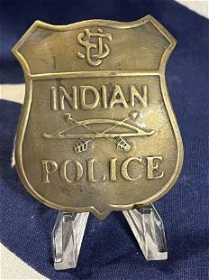 RARE ANTIQUE INDIAN POLICE BADGE