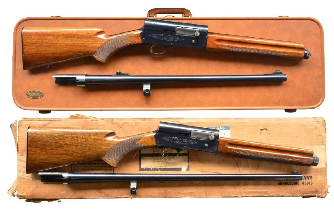 2 BROWNING A5 SEMI AUTO SHOTGUNS.