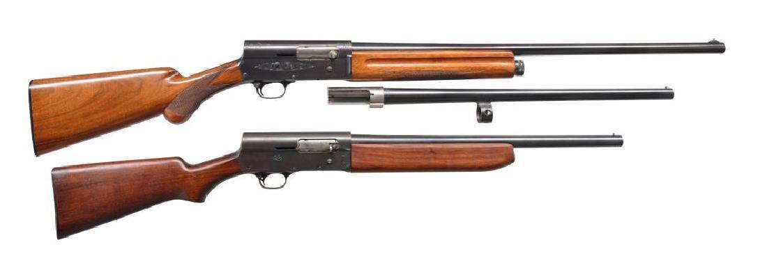 2 CURIO SEMI AUTO SHOTGUNS.