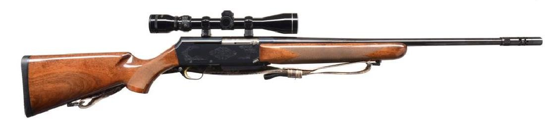BROWNING BAR II SAFARI GRADE SEMI AUTO RIFLE.