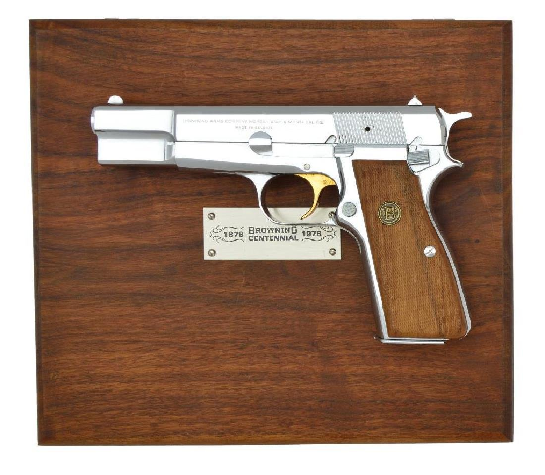 BROWNING CENTENNIAL HI POWER SEMI AUTO PISTOL.