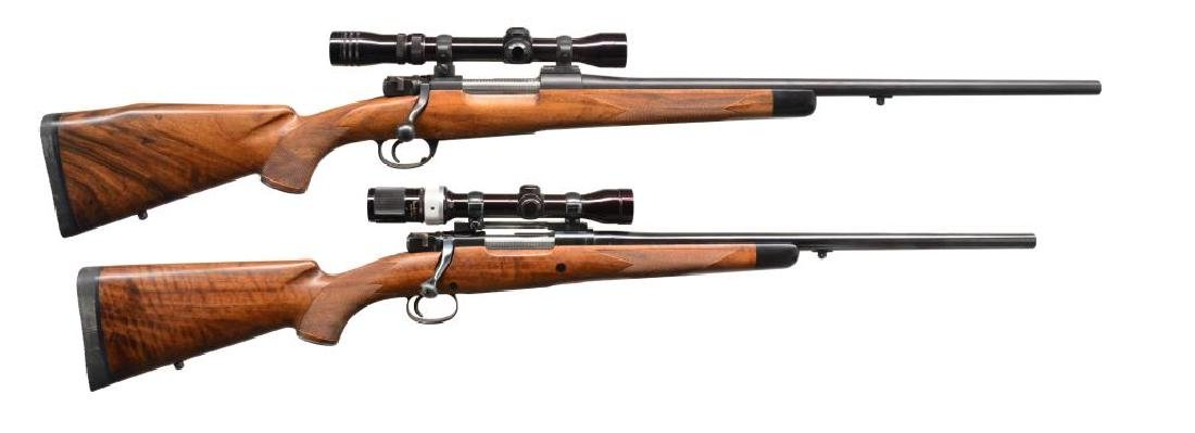 2 MAUSER BASED CUSTOM BIG BORE BOLT ACTION RIFLES.