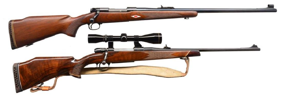 2 BOLT ACTION HUNTING RIFLES.
