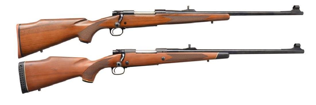 2 WINCHESTER MODEL 70 BOLT ACTION RIFLES.