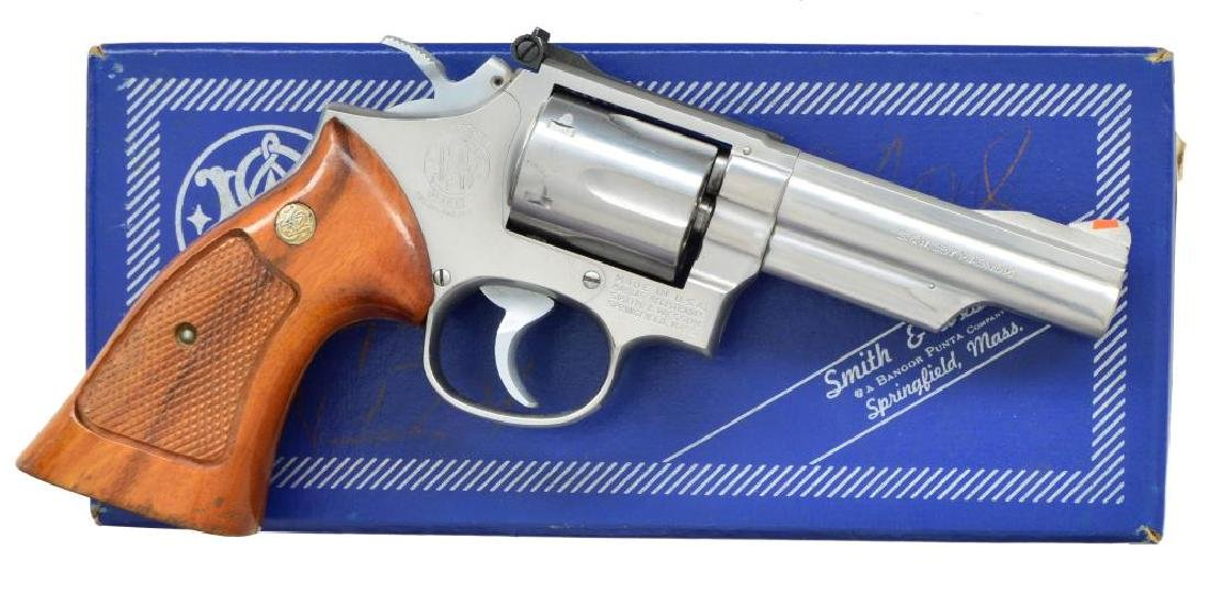 SMITH & WESSON STAINLESS MODEL 66-1 REVOLVER.